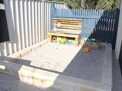 busselton childcare workbench sandpit